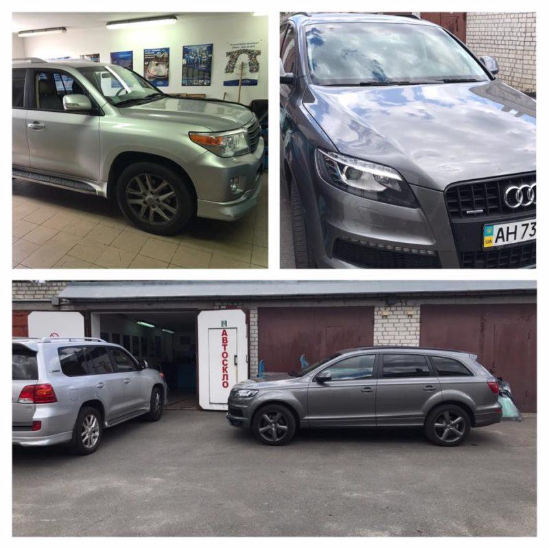 Замена лобового стекла на Audi