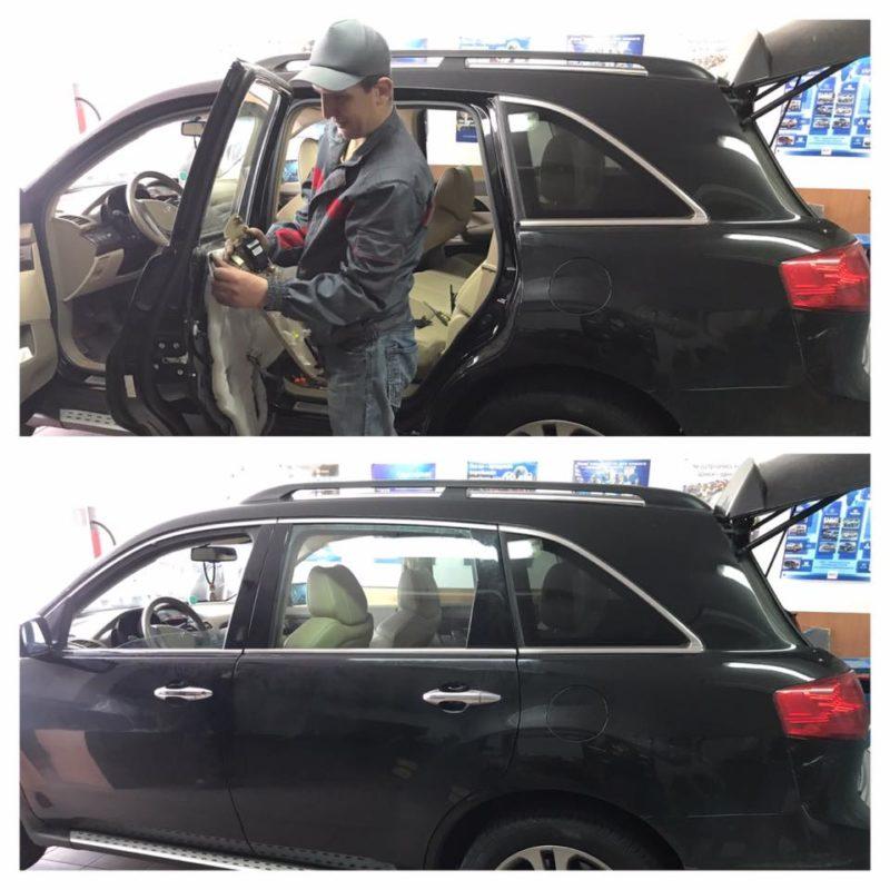 Acura MDX с новым боковым стеклом