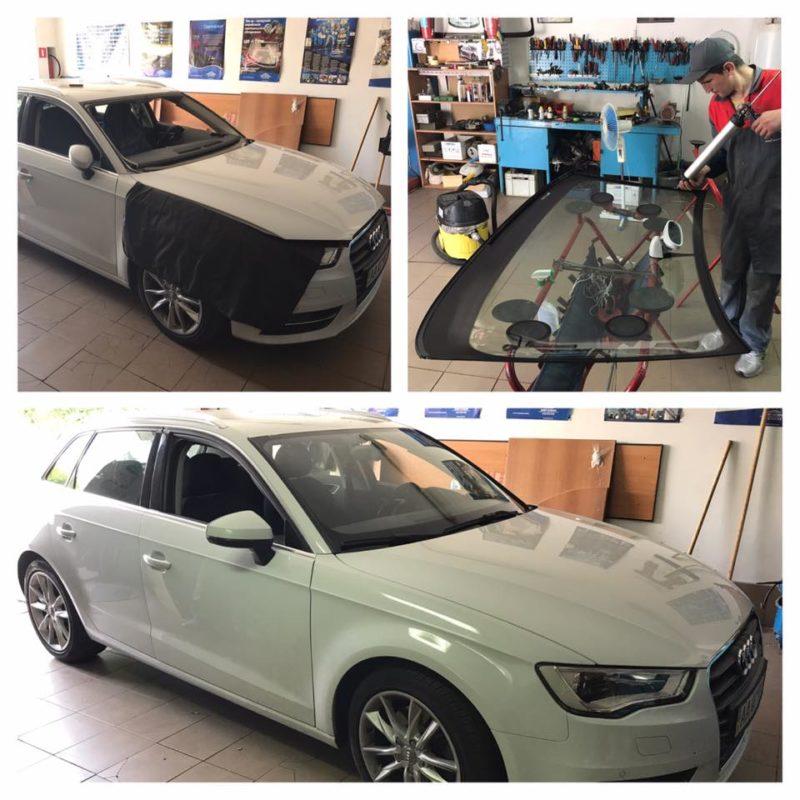 Audi А3 замена лобового стекла с датчиком дождя