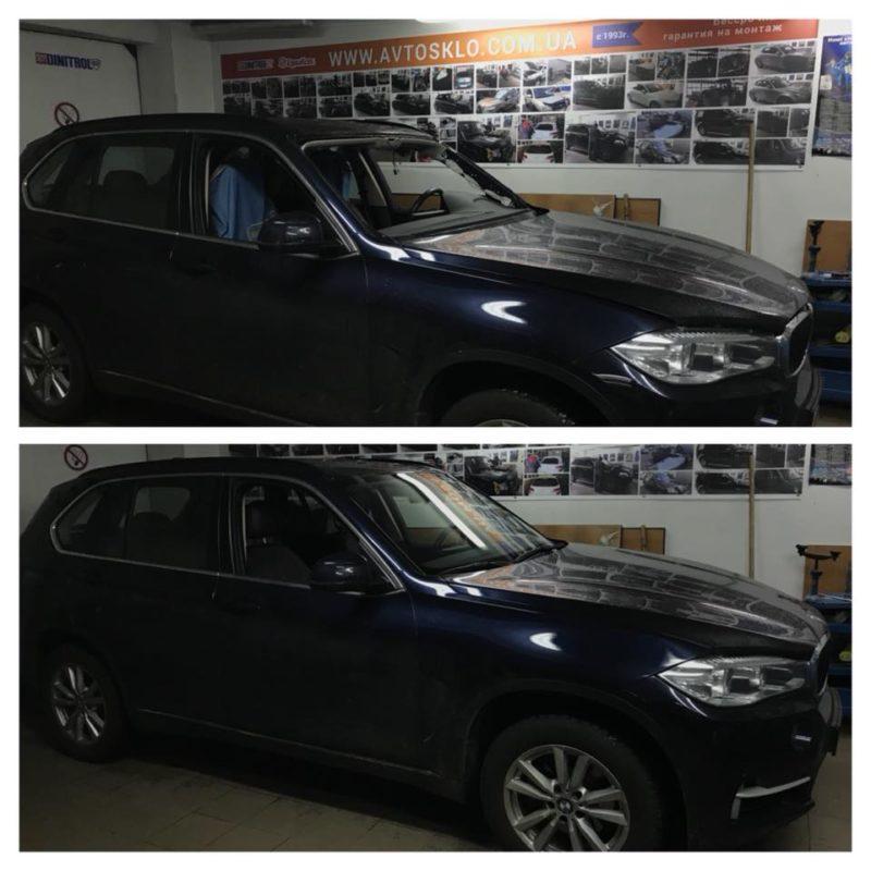 BMW X5 F15 замена лобового стекла с датчиком дождя